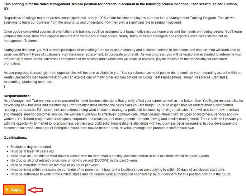 How to Apply for Enterprise Rent-A-Car Jobs Online at enterprise ...