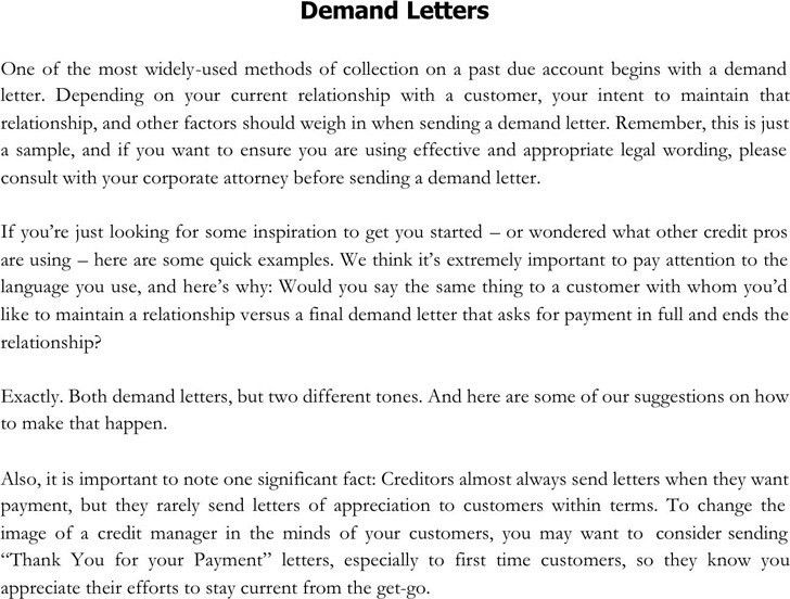 Demand Letter Example. Bank Reference Letter Sample 7+ Bank ...