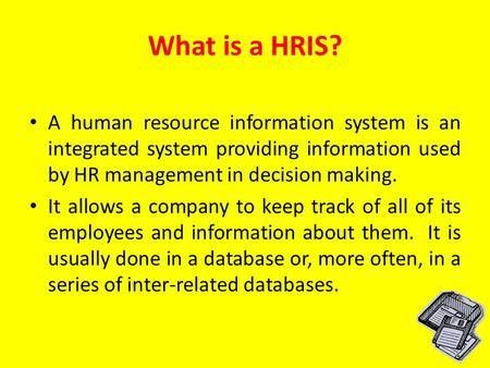 Human Resource Information Systems - ppt video online download