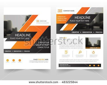Red Abstract Annual Report Brochure Design Stock Vector 530413423 ...