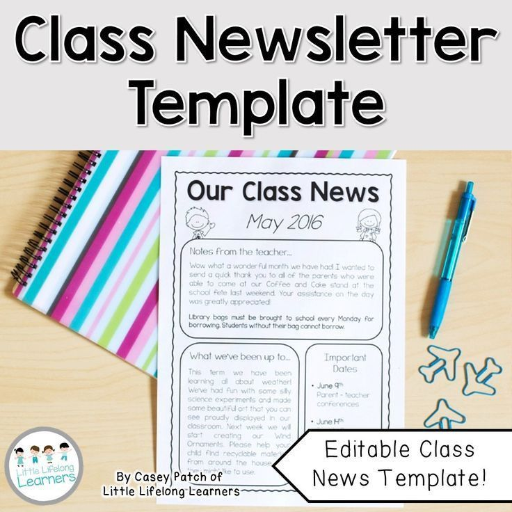 Classroom newsletter template free editable teacher newsletter best 25 classroom newsletter free ideas on pinterest parent pronofoot35fo Gallery
