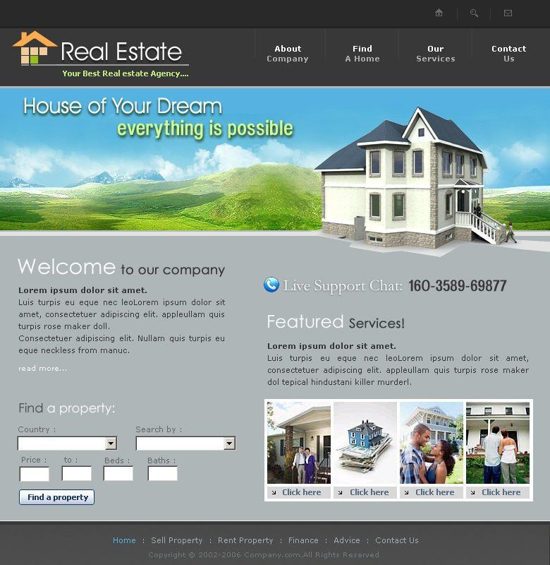 Real Estate Website Template