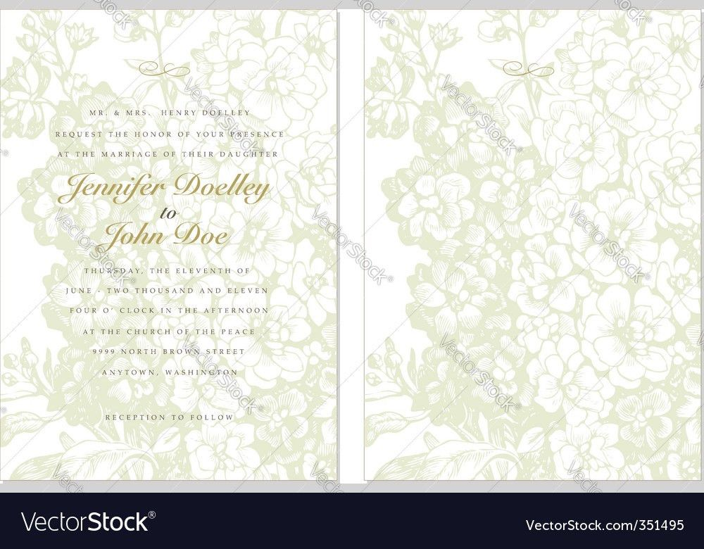 Invitation background Royalty Free Vector Image