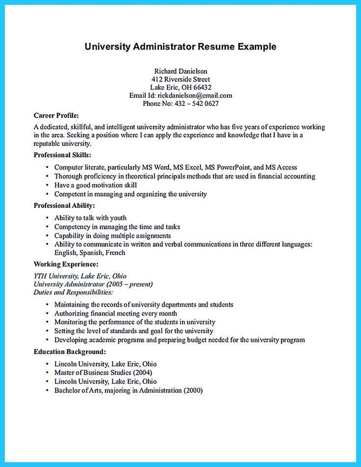 admin resume sample experience resume template builder sample ...