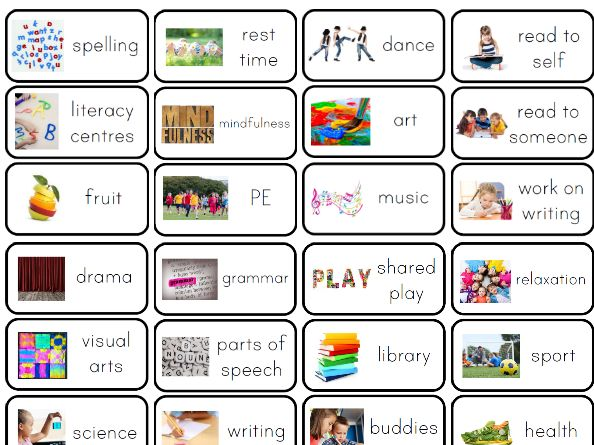Visual timetables for all ages | Tes