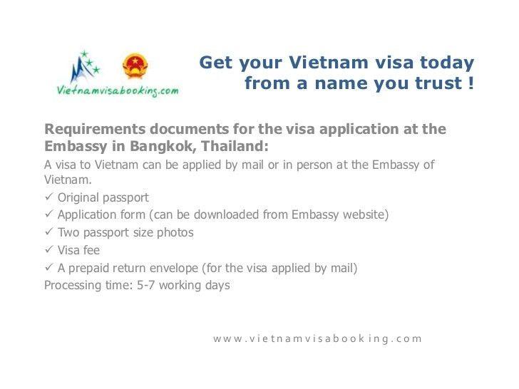 Get Vietnam visa from Bangkok, Thailand