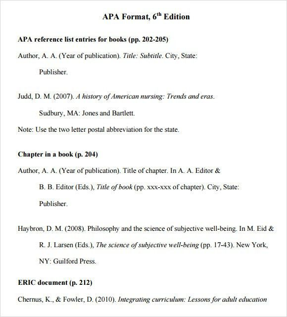 apa format template 6th edition