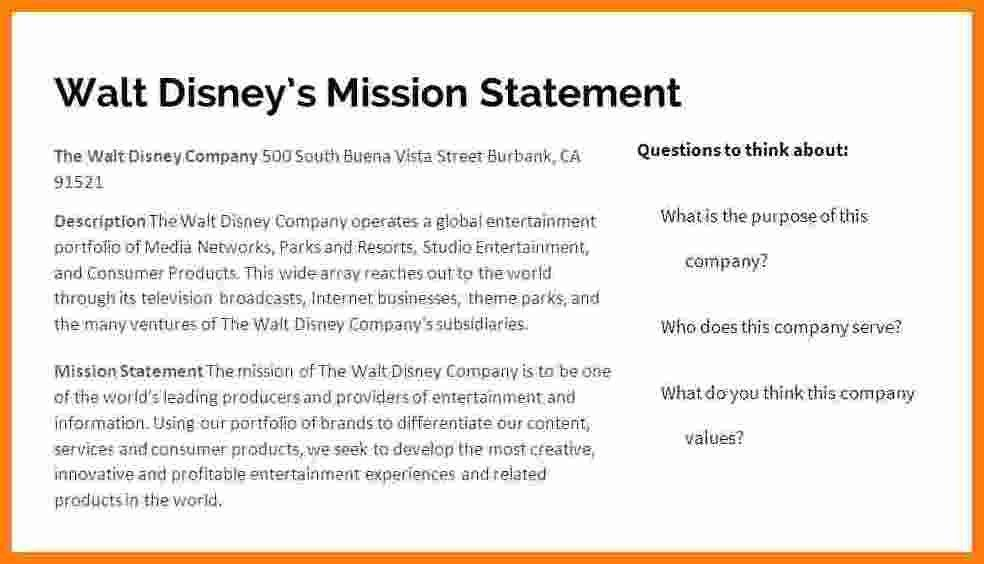 11+ walt disney company mission statement | Salary Slip Example