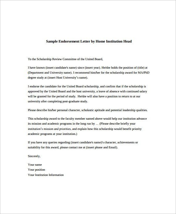 Sample Endorsement Letter   9+ Documents In PDF  Endorsement Letter For Employment