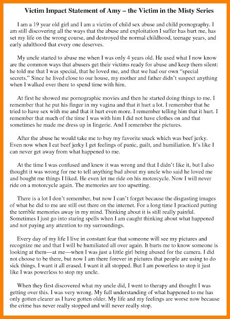 9+ victim personal statement template | Case Statement 2017