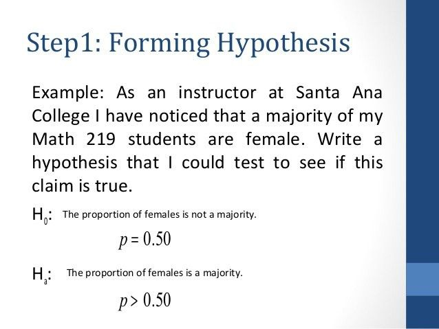Hypothesis testing interview