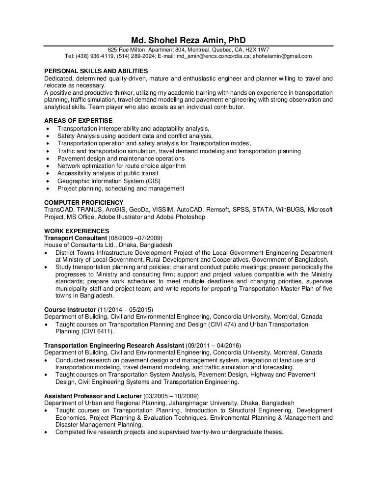 Analytical Skills Resume Analytical Skills Resume Sample  Urban Planning Resume