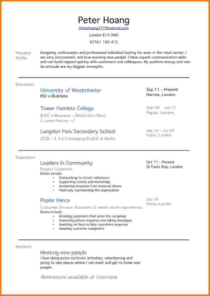 Resume Examples First Job. Examples Of Work Resumes | Resume ...