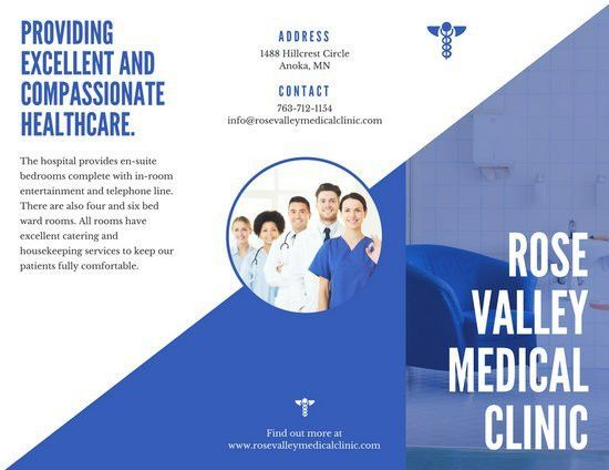Blue and White Medical Trifold Brochure - Templates by Canva