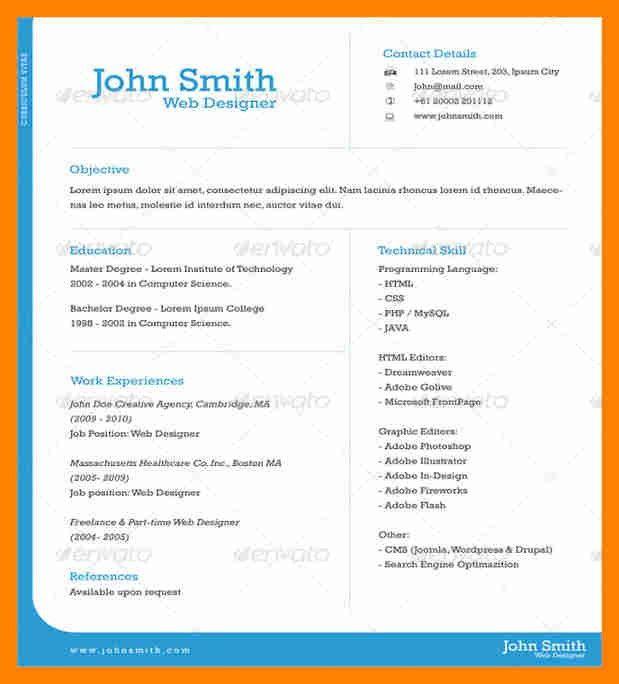 Download 1 Page Resume Template | haadyaooverbayresort.com
