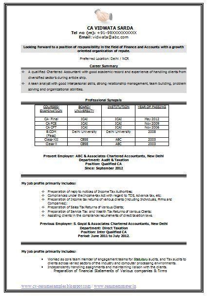 Cv format pdf or doc