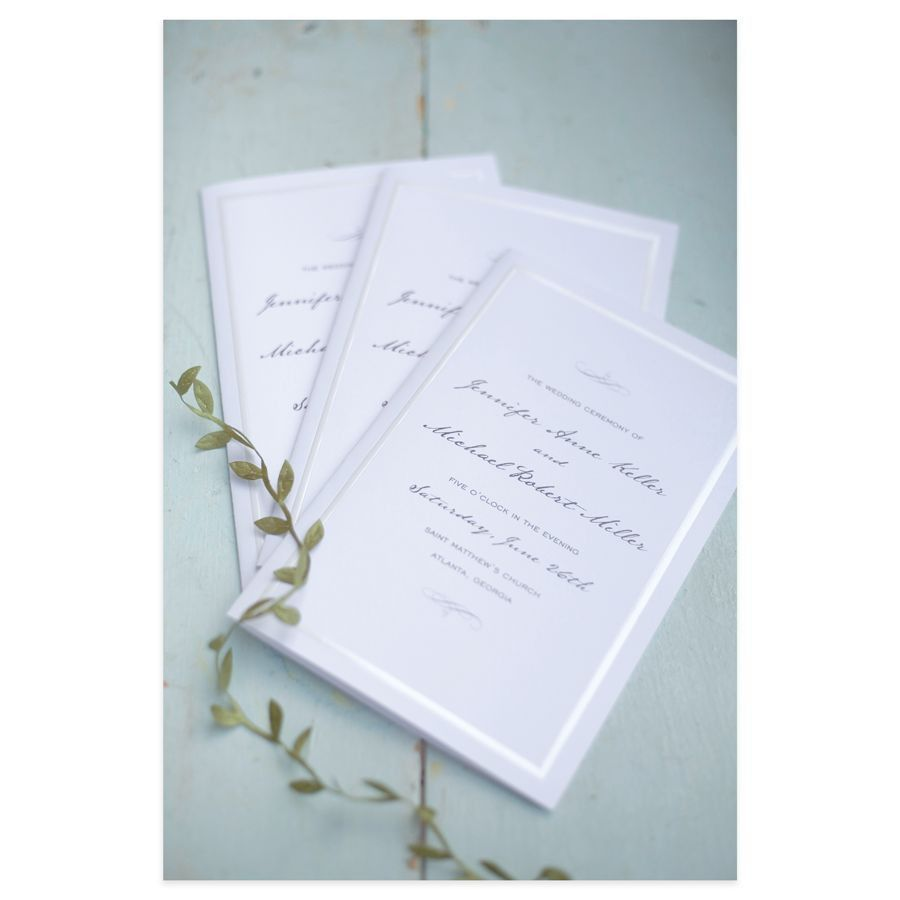 Gartner Studios Wedding Programs Half Fold 8 12 x 11 Pearl White ...