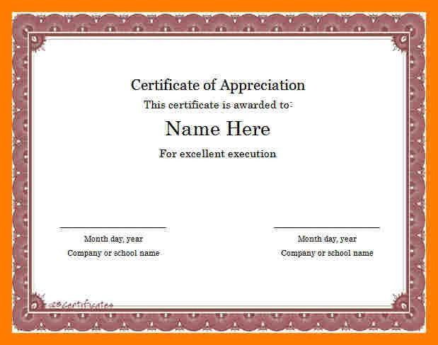 9+ sample certificate templates | teller resume