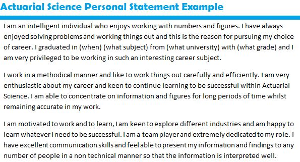 job application personal statement examples - Template