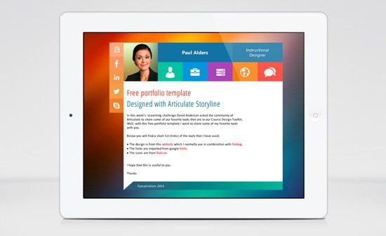 E-Learning Portfolio Template for Articulate Storyline - E ...