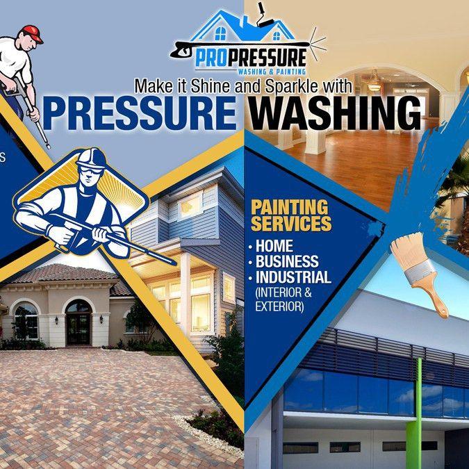 R U a real artist? Pro Pressure Washing | Postcard flyer print ...