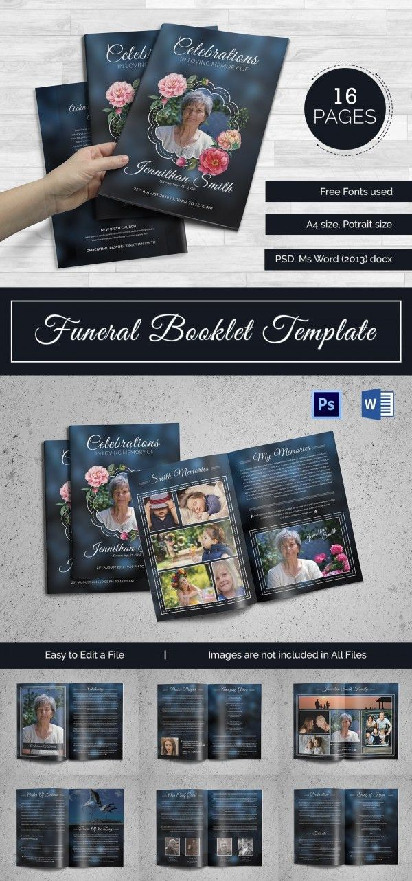 5+ Funeral Booklet Templates - Word, PSD Format Download | Free ...