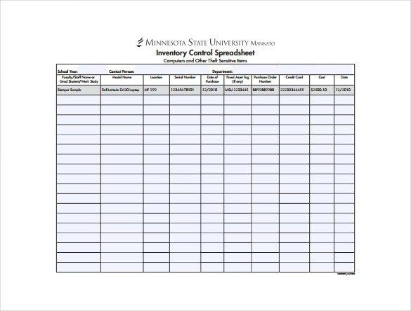 12+ Sample Inventory Spreadsheet Templates- Free Sample, Example ...