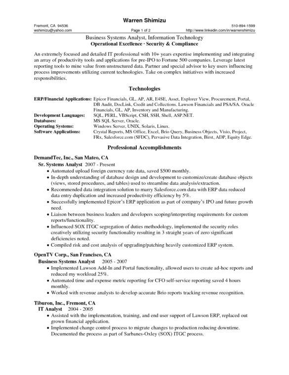 46 Best Business Analyst Resume Samples For Job Seekers : Vntask.com