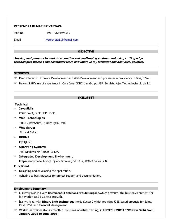 Android Developer Resume. Programming Resume Examples Download ...