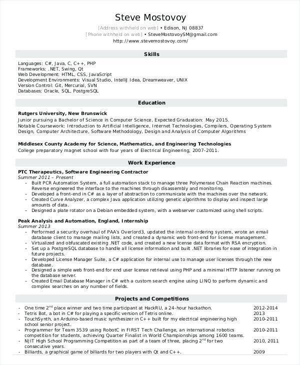 Entry Level It Resume – Okurgezer.co