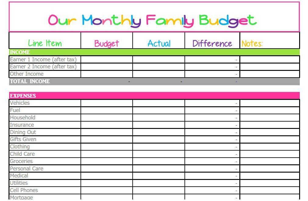 Expense Sheet Template. This Google Spreadsheet Budget Template ...