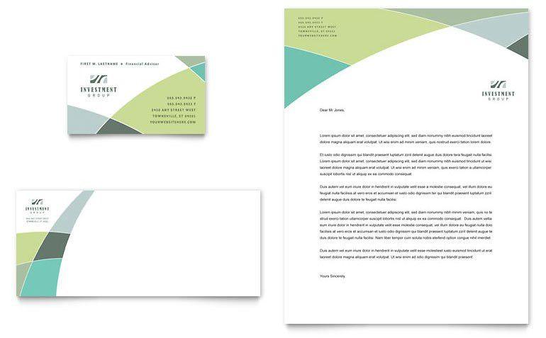 Financial Advisor Business Card & Letterhead Template - Word ...