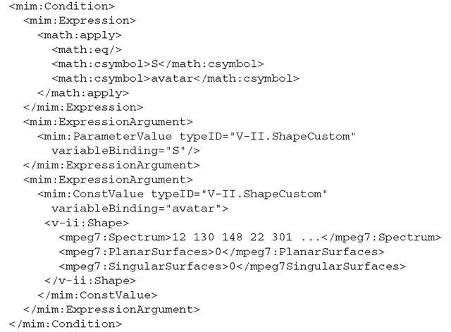 Interaction Metadata Example (Describing Interactivity of 3D Content)