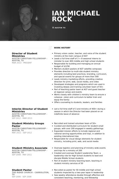 Student Resume samples - VisualCV resume samples database
