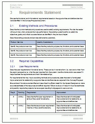 System Boundary Document - Download MS Word template