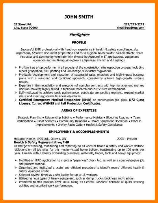 6 firefighter resume examples science resume