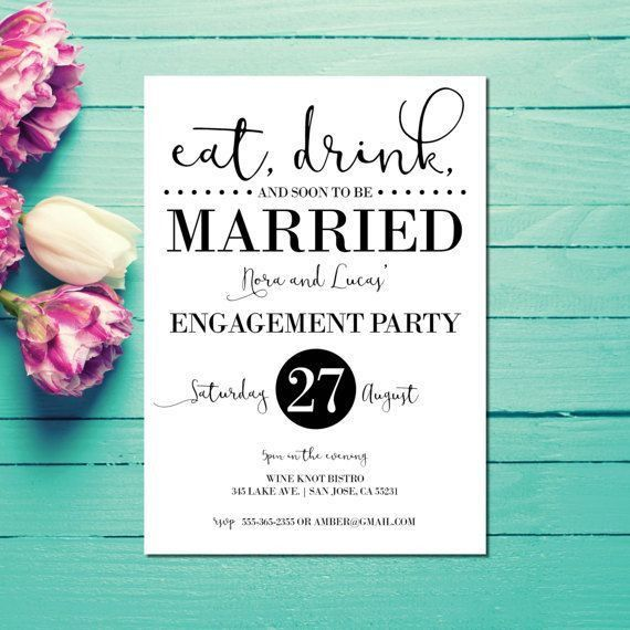 The 25+ best Engagement party invitations ideas on Pinterest ...