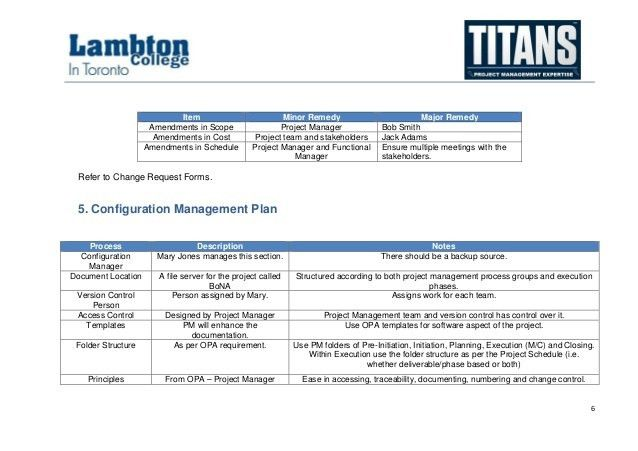 Project Management Plan Template 11 Project Management Plan – Configuration Management Plan Template