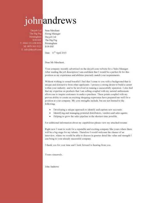 Job Cv Sample Resume Cover Letter Template | jennywashere.com