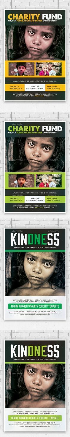 Charity & Donation Flyer Templates | Flyer template, Graphics and ...