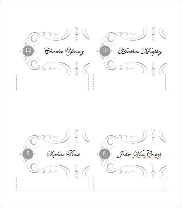 Place Card Template | Free & Premium Templates