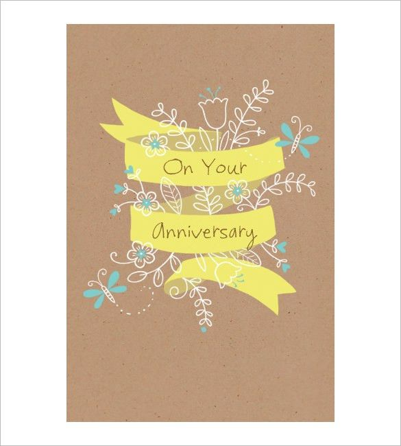 Anniversary Card Template – 12+ Free Sample, Example Format ...