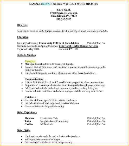 Example Job Resume. Resume Examples For First Job Resume Examples ...