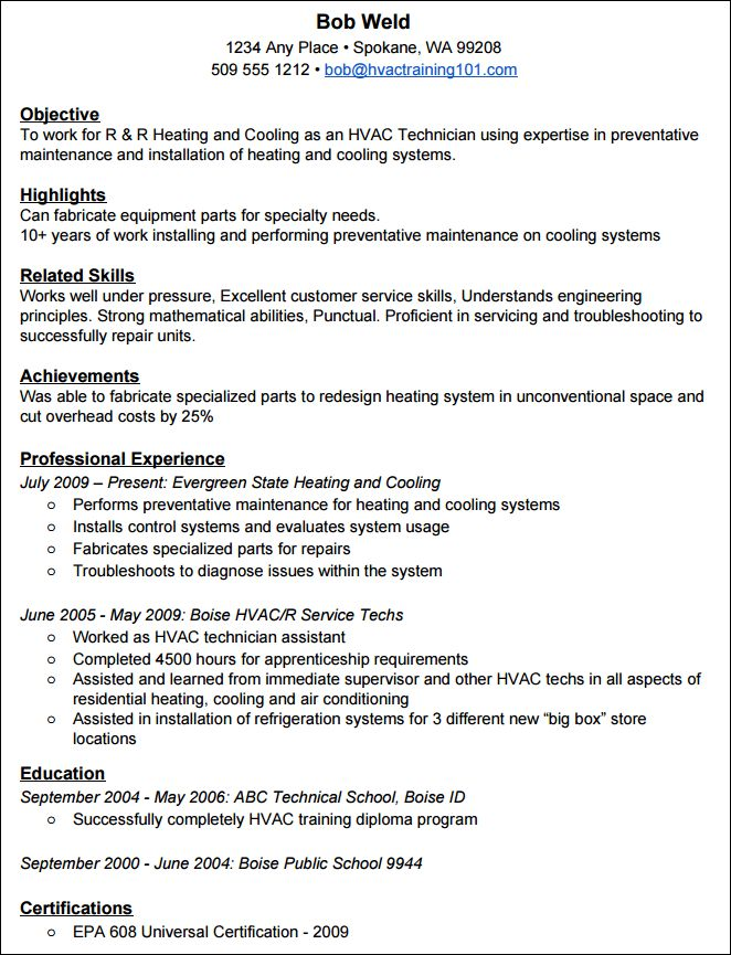 How to Create a Standout HVAC Resume (with Example Resume)