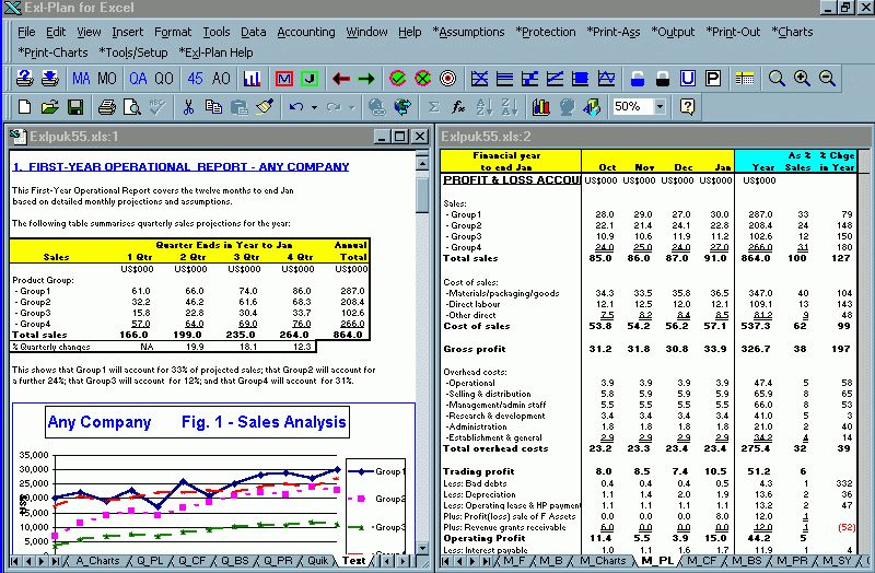 Software : Exl-Plan - Planning Tool for Excel - template packages ...