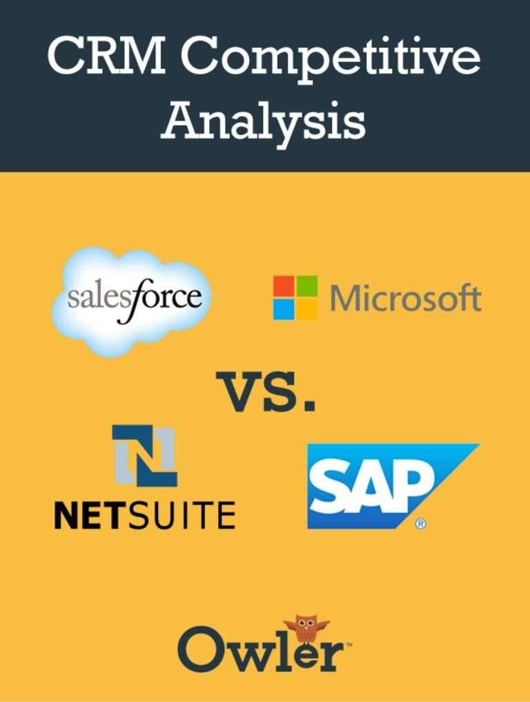 CRM Competitive Analysis (Salesforce, Microsoft, NetSuite and SAP)
