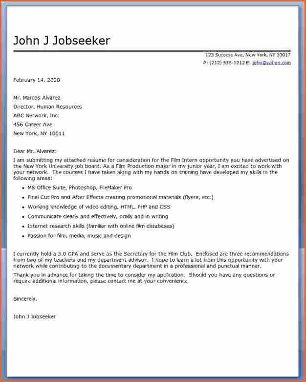 6+ internship cover letter sample - Budget Template Letter