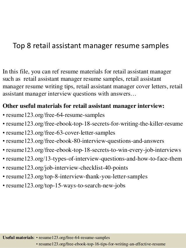 resume example for retail choose retail sales manager resume ...