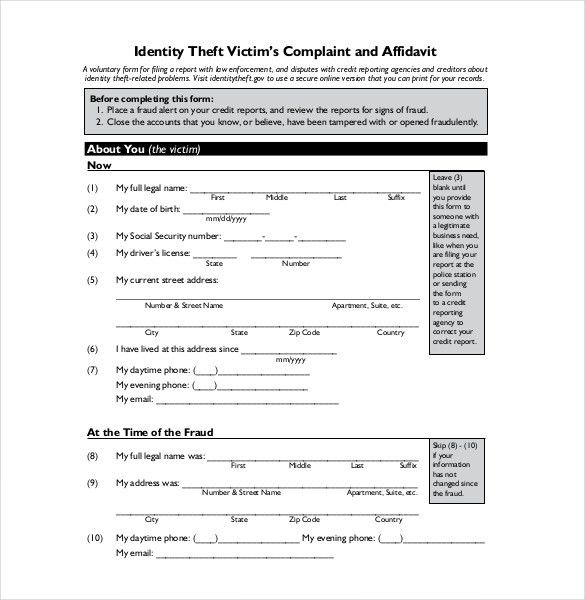 Sample Police Report Template – 13+ Free Word, PDF Documents ...