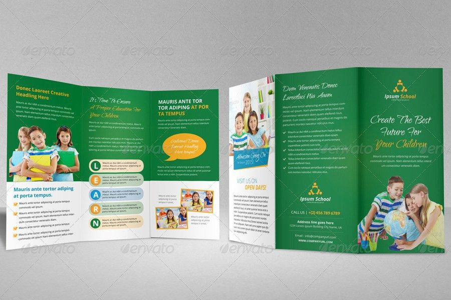Education School Trifold Brochure Template by JanySultana ...